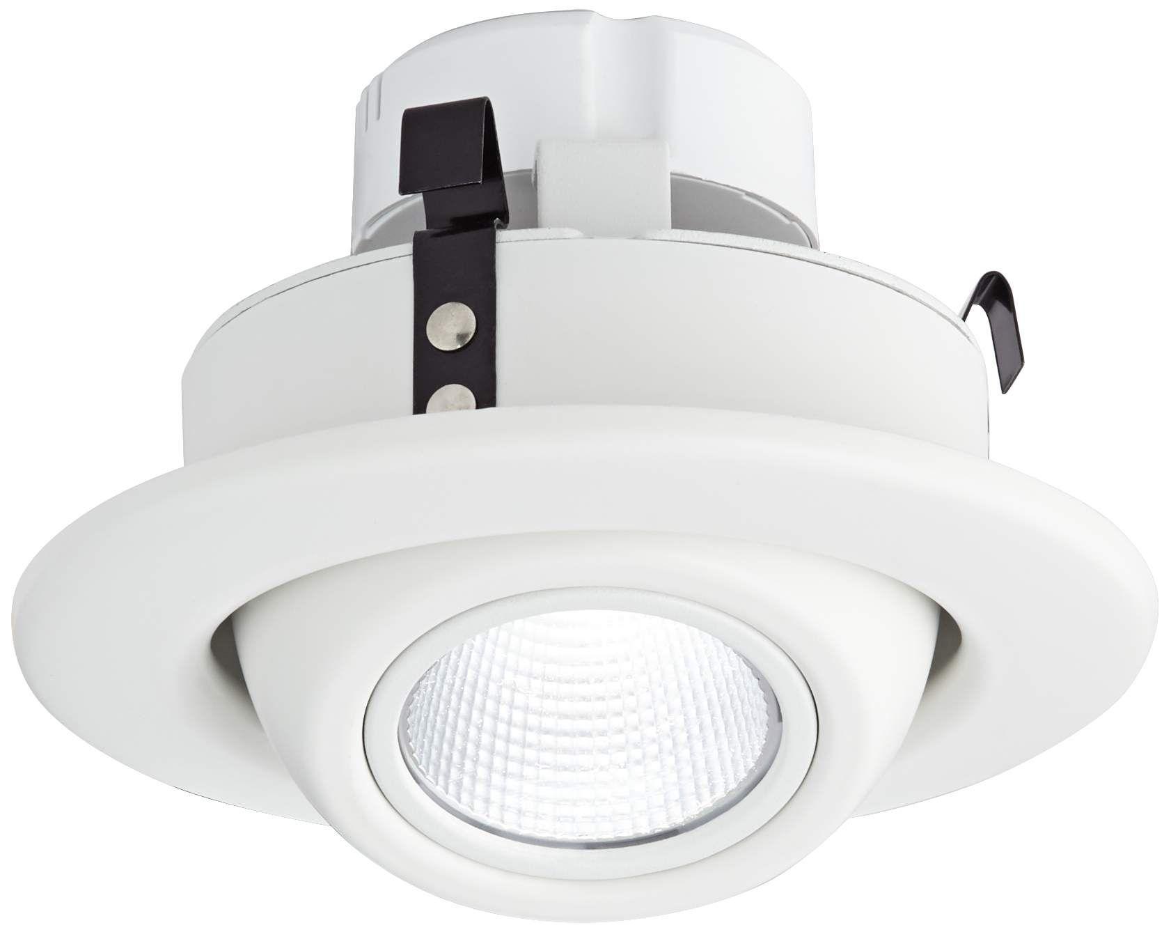 Recessed Lighting 4 White Eyeball 10 Watt Led Retrofit Trim Recessed Lighting Recessed Spotlights Halogen Lamp