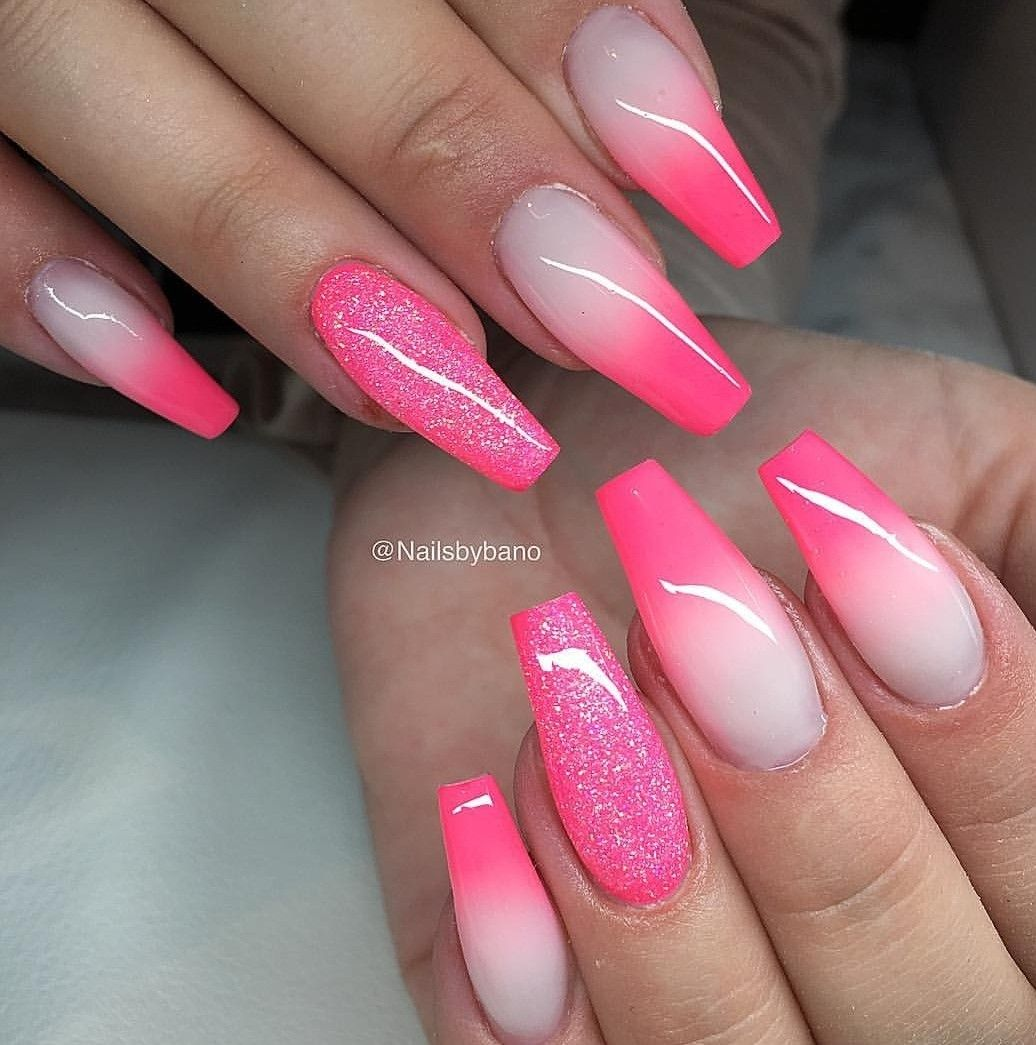 Pin By Julia Kennedy On Nails Pink Ombre Nails Faded Nails Ombre Acrylic Nails