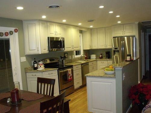 Split Foyer Kitchen Reno Houzz Cheap Kitchen Remodel