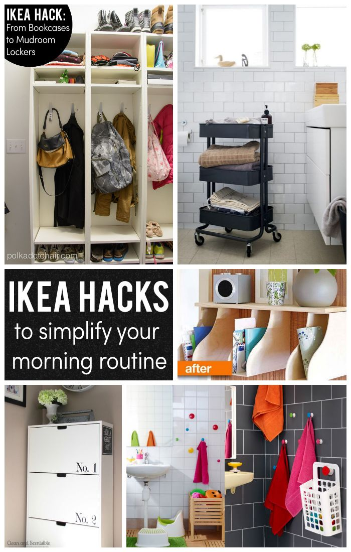 ikea hacks to simplify your morning routine home pinterest garderoben kreativ sein und. Black Bedroom Furniture Sets. Home Design Ideas