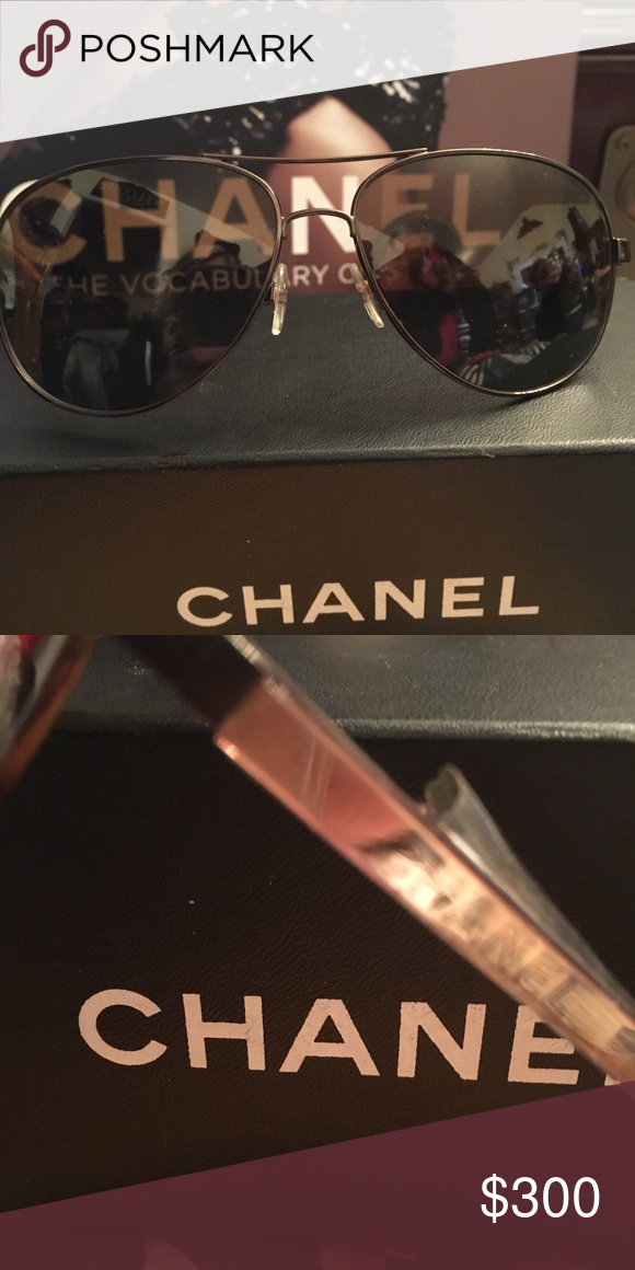 3a8146e826e6 Chanel Espresso mirror classic Pilot Sunglasses Chanel Espresso Mirror  Classic Pilot Sunglasses Chanel Accessories Sunglasses