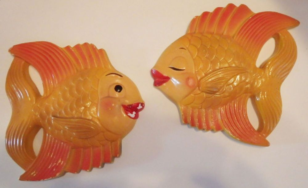 Details About Vtg 2 Miller Studio Chalkware Fish Wall Plaques