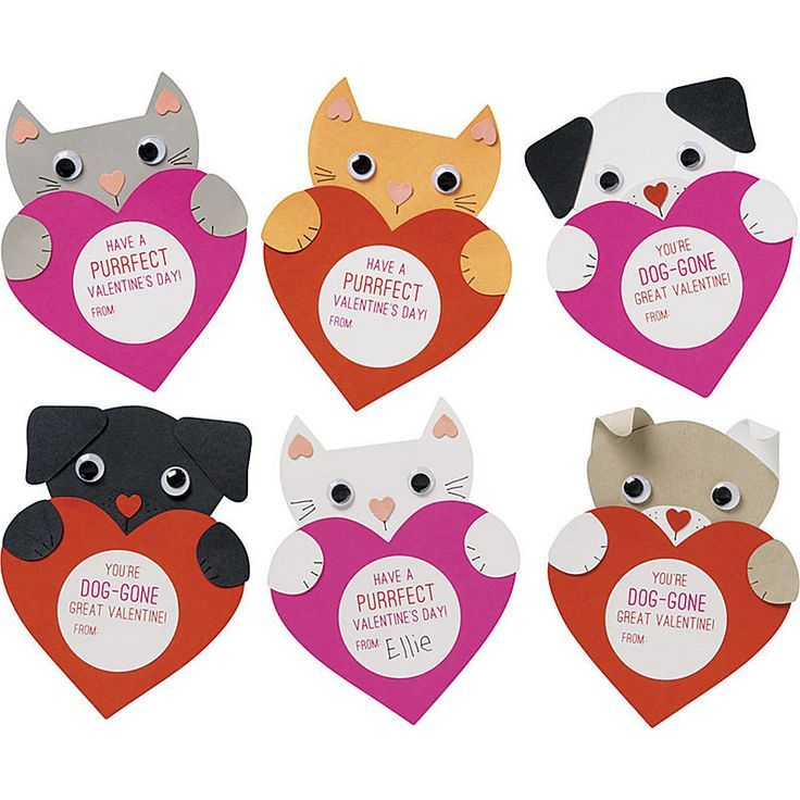 Send sweet greetings with these furry friends! Our puppy and kitten cards are irresistible and come with stickers with playful messages that make giving Valentines easy. Kit makes 28 valentines, 14 ca