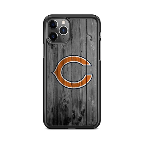 New Chicago Bears Nfl Logo Dark Wood Wallpaper Iphone 11 Pro Max Case Miloscase In 2020 Dark Wood Wallpaper Dark Wood Nfl Logo