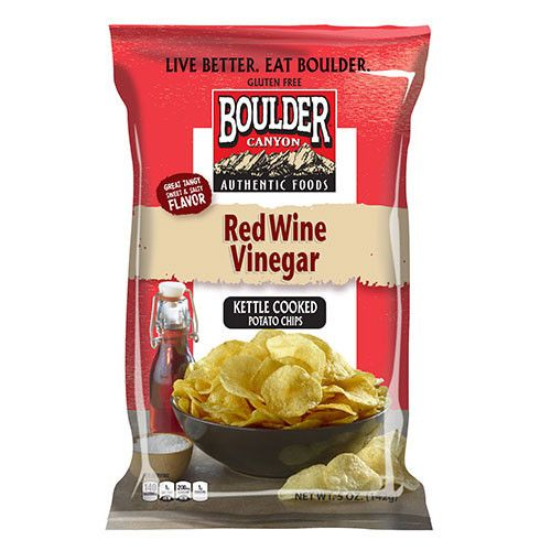Boulder Canyon Red Wine Vinegar Kettle Chips 142g Kettle Chips Authentic Recipes Chips
