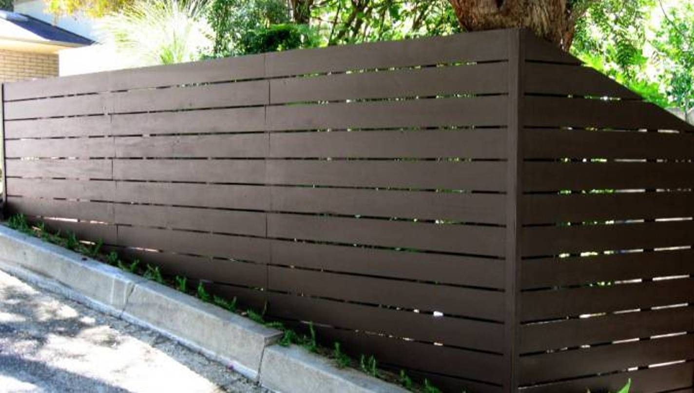 horizontal wood fence. Unique Fence Landscaping And Outdoor Building  Horizontal Wooden Fences  Painted  Intended Wood Fence
