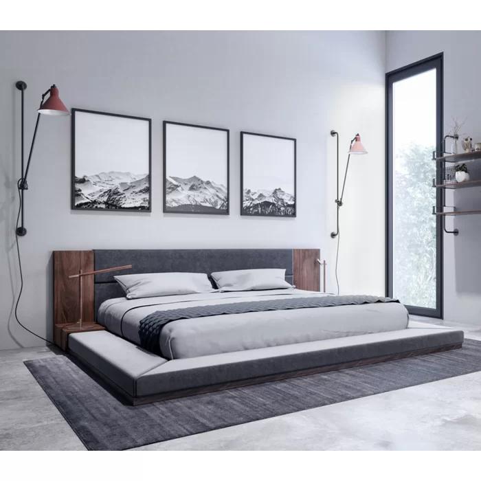 Defalco Upholstered Platform Bed Upholstered platform