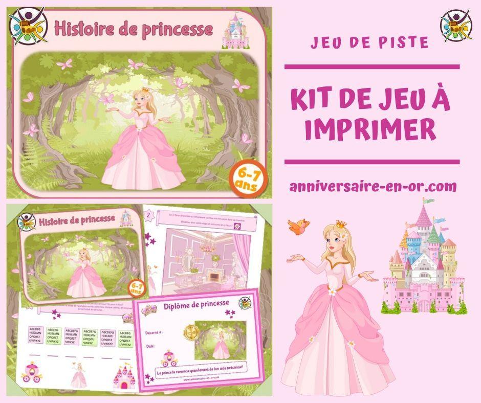 Jeu de piste des princesses (6-7 ans) -Un Anniversaire en Or Kit jeu enfant en 2020 | Jeu de ...