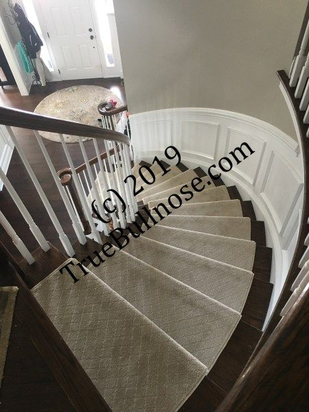 Best Curved Staircase Tan 1 Carpet Stair Treads Bullnose 400 x 300