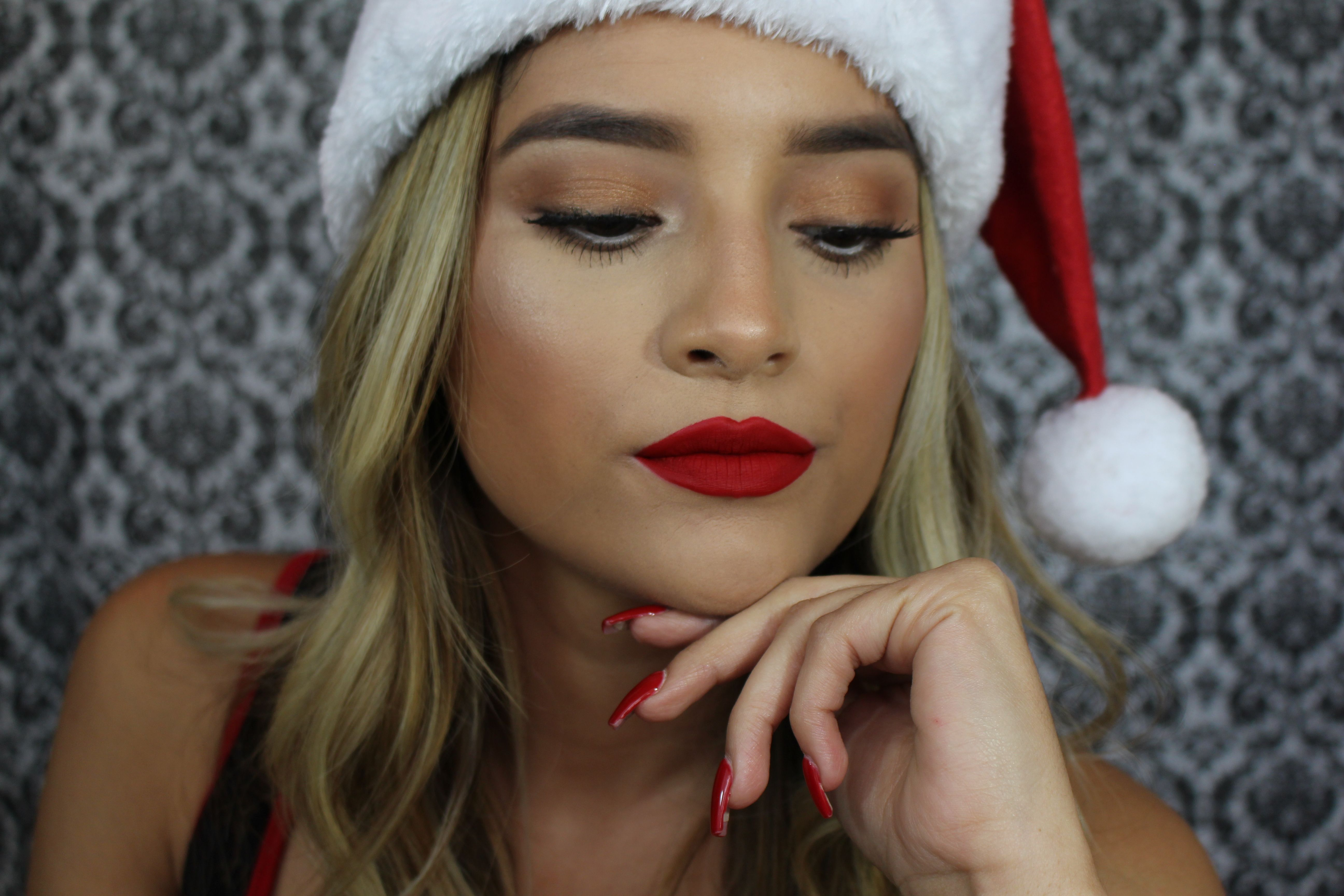 Simple Makeup With Red Lip Youtube Glamwithsisi Makeup Tutorials