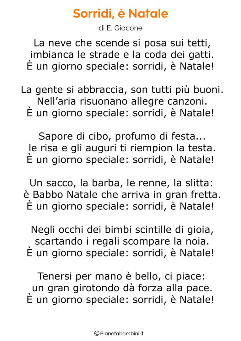 Natale Per Tutti Testo.Poesia Di Natale 17 Natale Parole Di Natale Bambini Di Natale