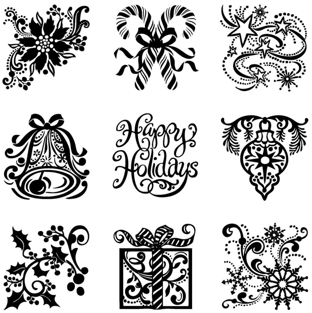 Inkadinkado Clear Products On Sale Silhouette Cameo Christmas Silhouette Christmas Christmas Stencils