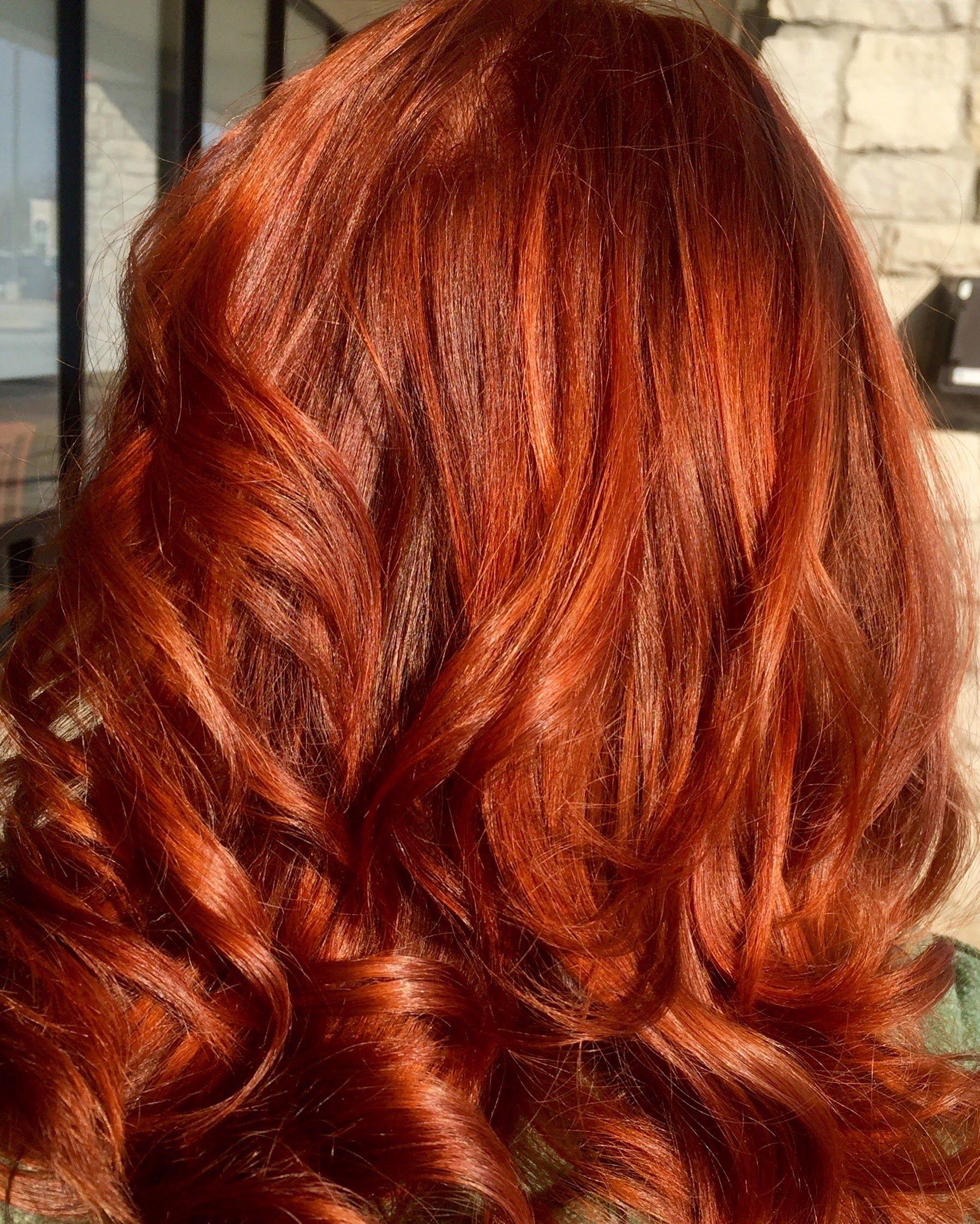 Warm Cinnamon Hair Color Using Pravana Chromasilk Hair Color For