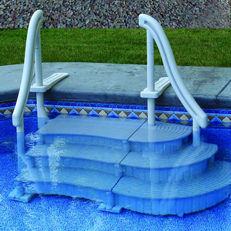 Confer Curve In Ground Pool Steps For Sale Doheny S Pool Supplies Fast Pool Steps Inground Pool Steps Above Ground Swimming Pools