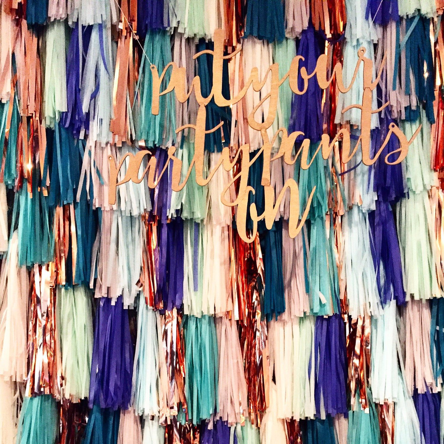 Tassel Garland Backdrop // wedding backdrop // photography