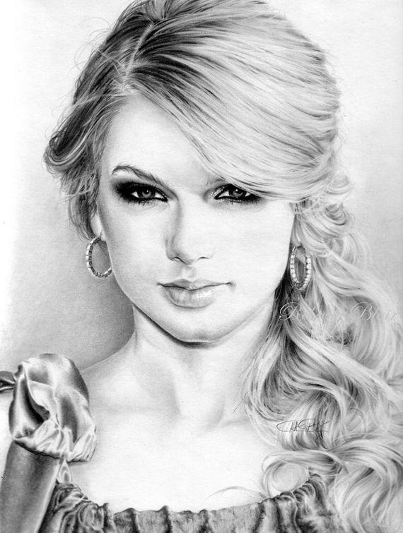 25 Amazing Taylor Swift Drawings   Taylor Swift   Drawings, Pencil ...