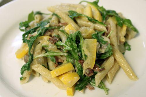 Goat cheese, bacon, squash, arugula pasta recipe - Queen Bee Coupons & Savings