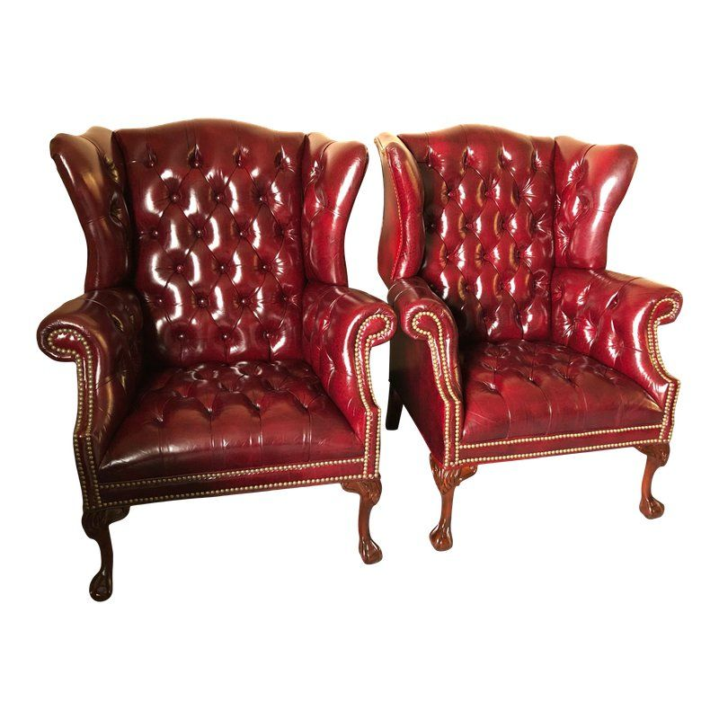leather chesterfield chairs for sale