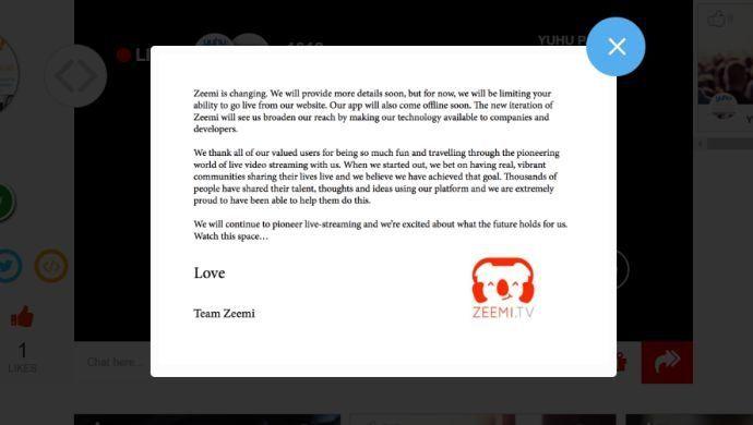 Indonesian live video streaming platform Zeemi.tv announces hiatus