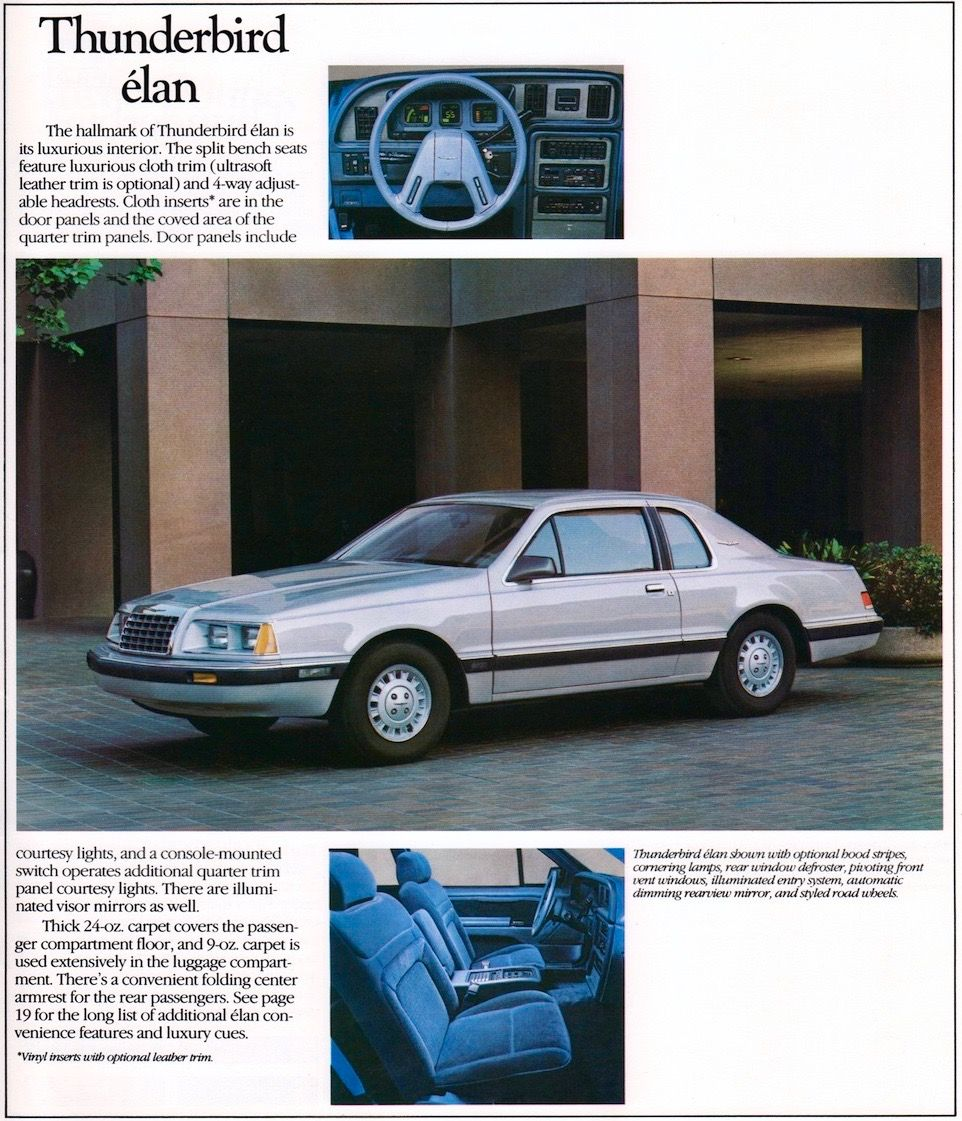 1985 Ford Thunderbird Elan   1980s Fords & Mercurys   Pinterest ...