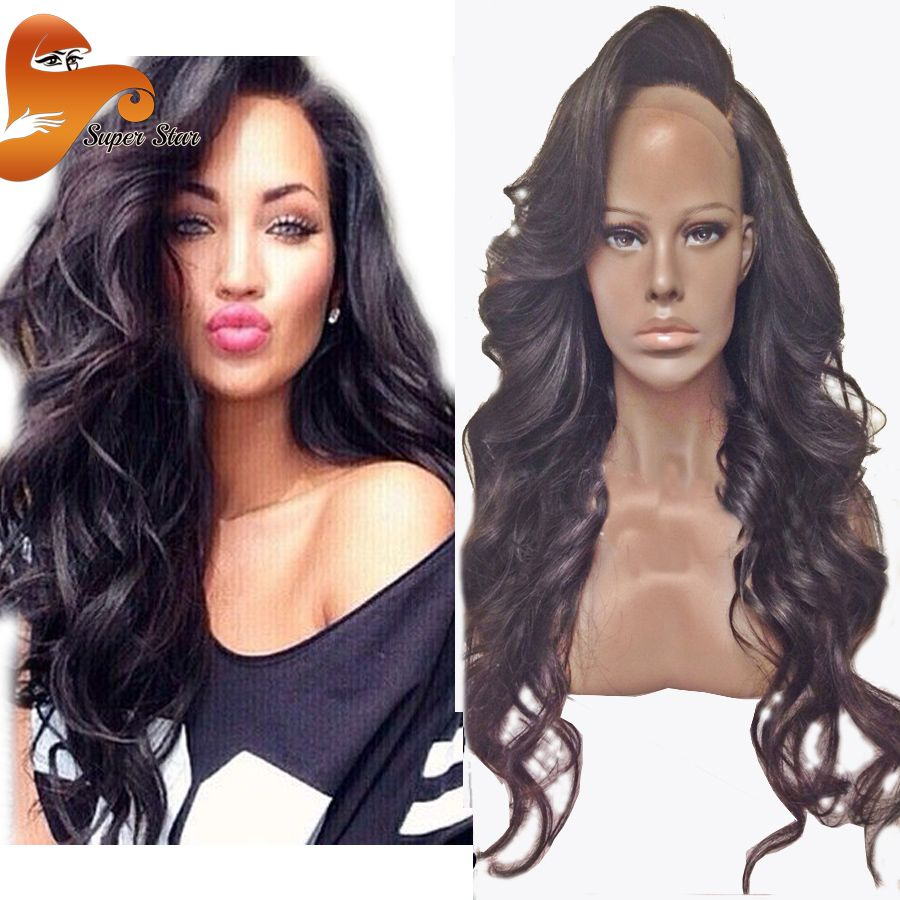 Brazilian Wet Wavy Glueless Full Lace Human Hair Wigs For Black Women 100%  Virgin Human Hair Full Lace Front Wigs With Baby Hair