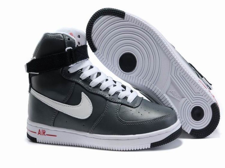 damen nike air force 1 25th high schuhe anthracite grau weiß 34827 online shop