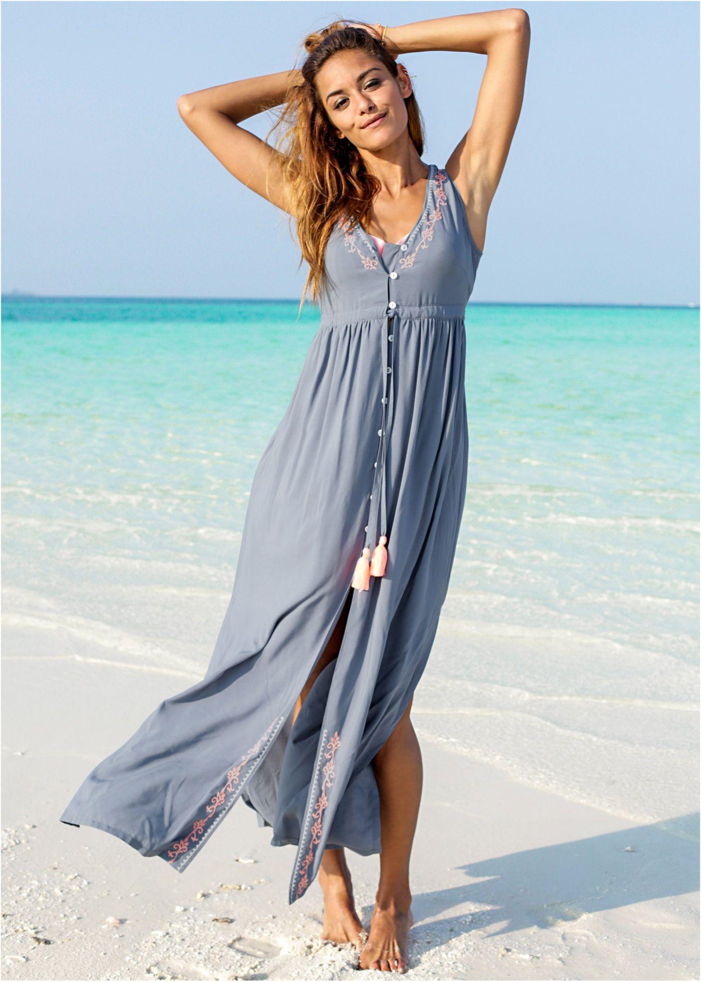 Kleid rauchblau/neonorange - RAINBOW jetzt im Online Shop von