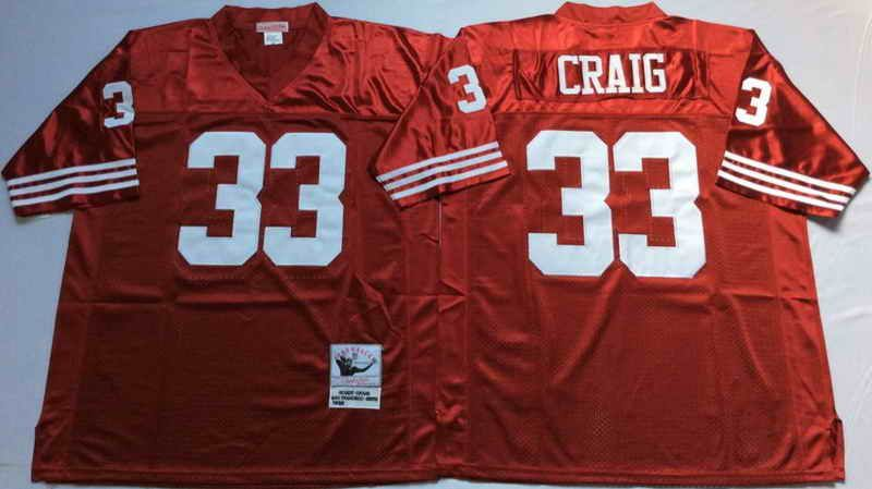 $22 Mitchell & Ness San Francisco 49ers #33 Roger Craig Red NFL Throwback  Jersey