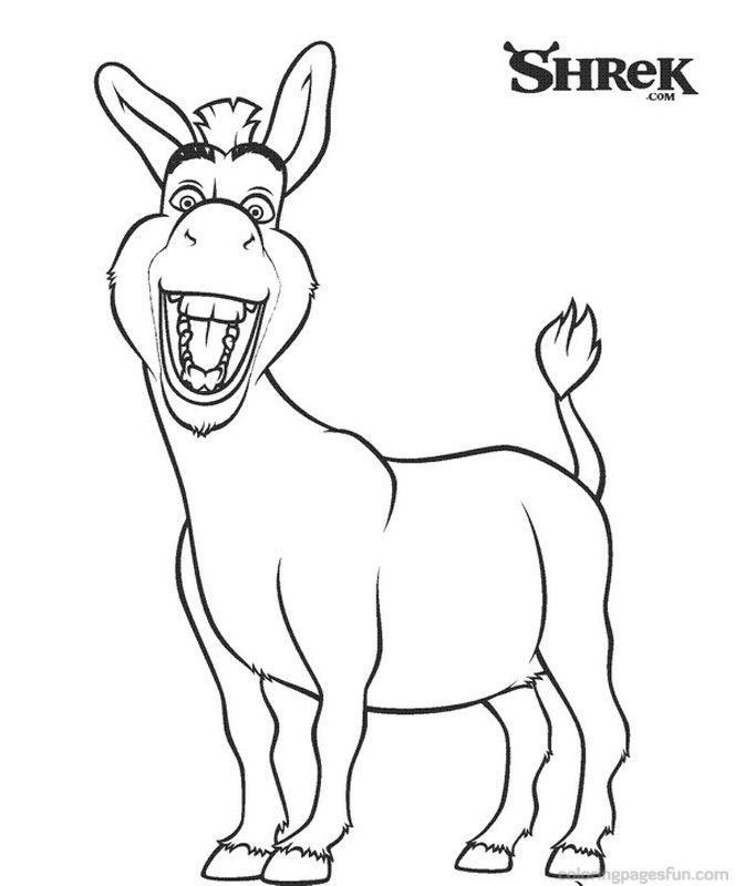 donkey coloring page az coloring pages disney characters