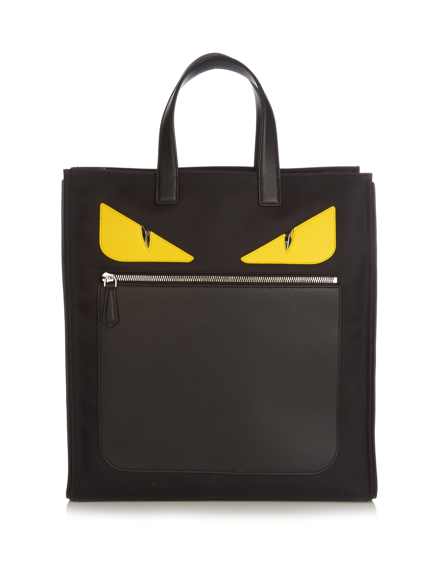 Black Bag Bugs Leather tote bag Fendi