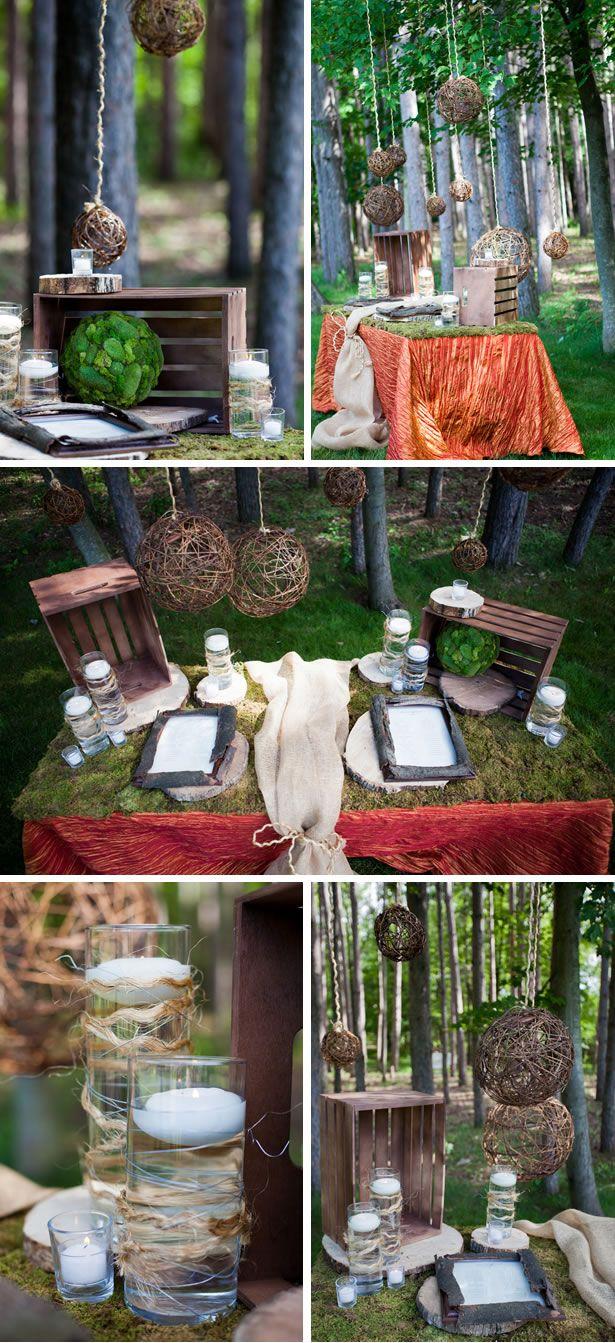 rustically romantic outdoor inspiration outdoor wedding