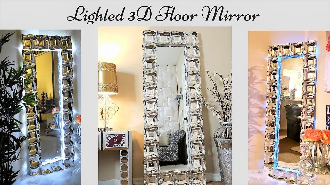Diy 3d Large Glam Floor Mirror Large Mirror Wall Home Decor