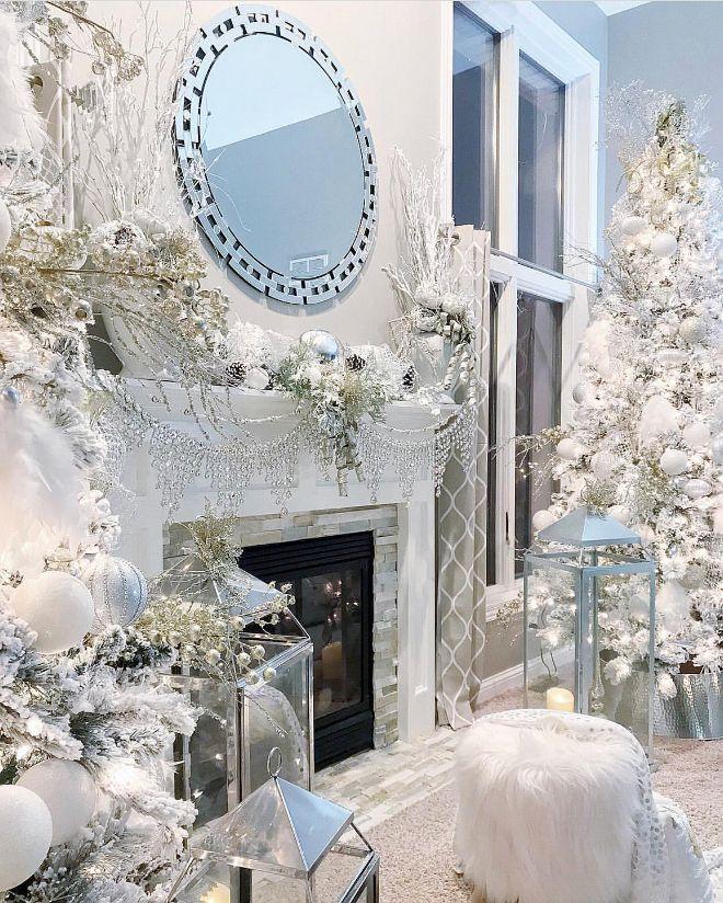 White Christmas Fireplace Decor White Christmas Fireplace Decor - christmas fireplace decor