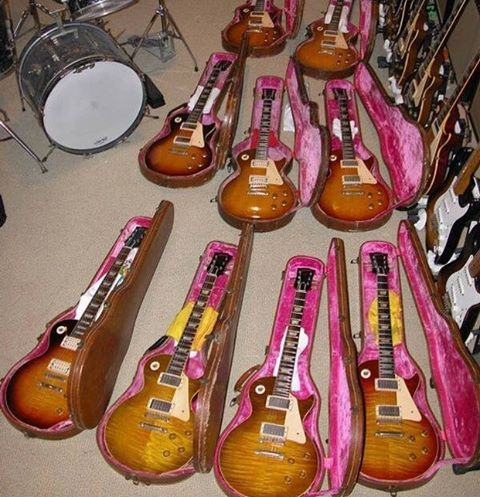 Decisions, Decisions…. #lespaul #gibson #gibsonlespaul #gibsonguitars #electricguitar #guitar #guitarstoriesusa