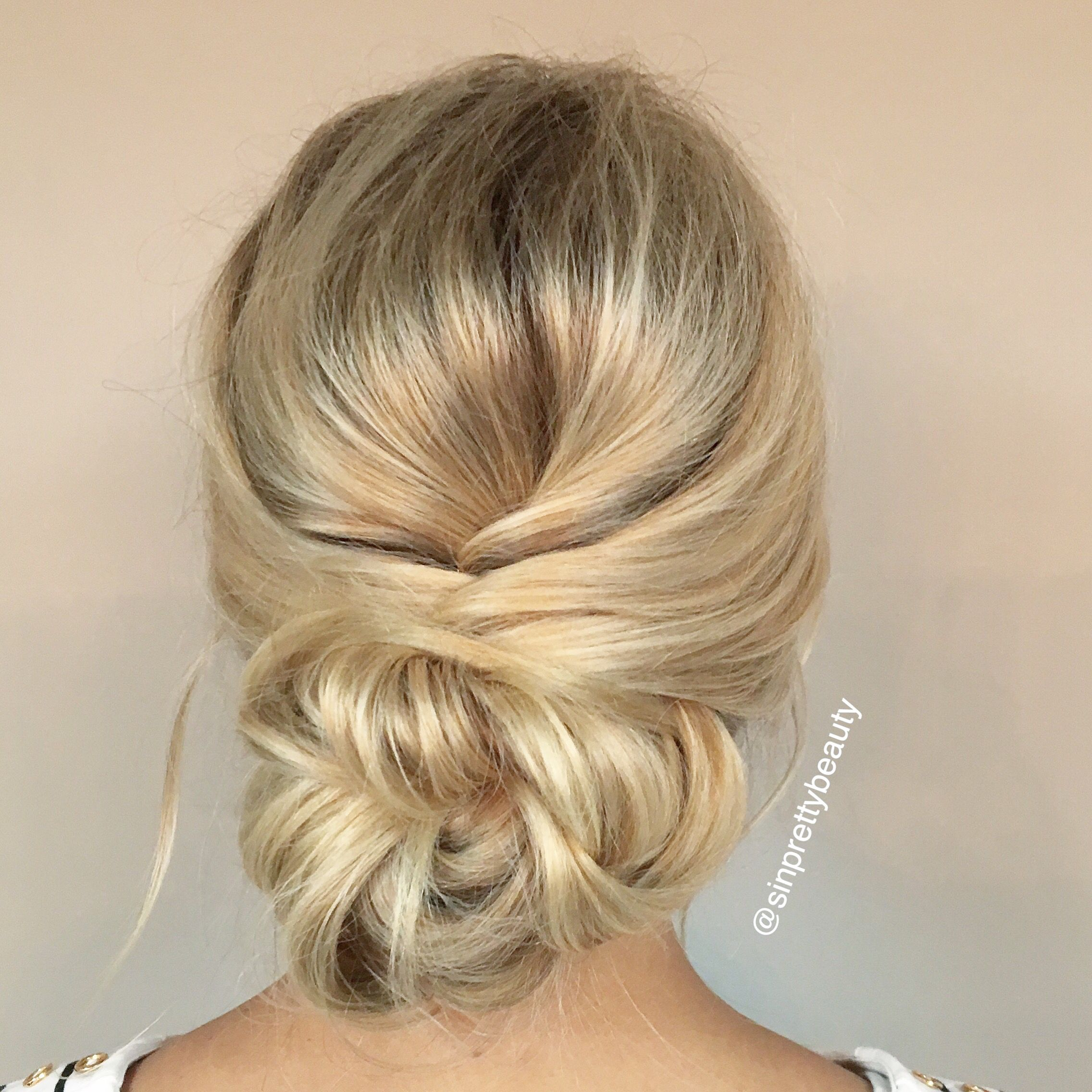 bridal hair, low bun, romantic hair style, updo, blonde