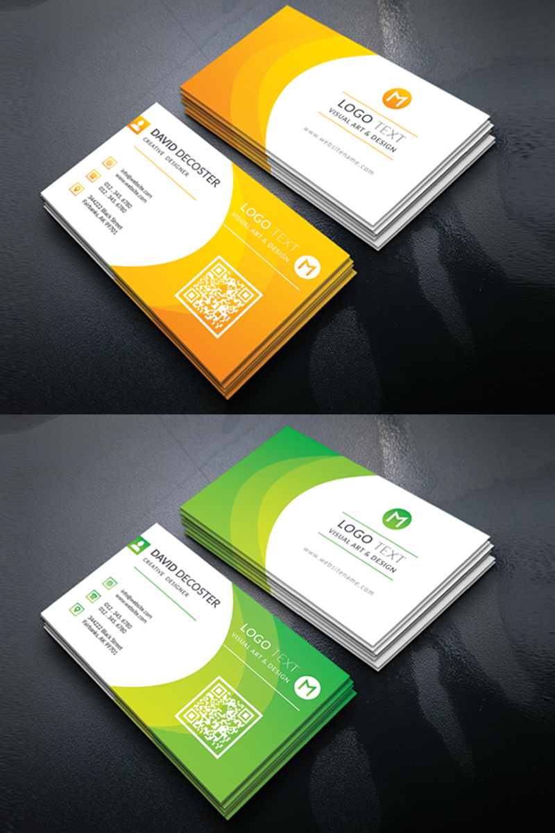 Decoster Personal Business Card Corporate Identity Template Business Perso Business Cards Corporate Identity Personal Business Cards Business Cards Creative