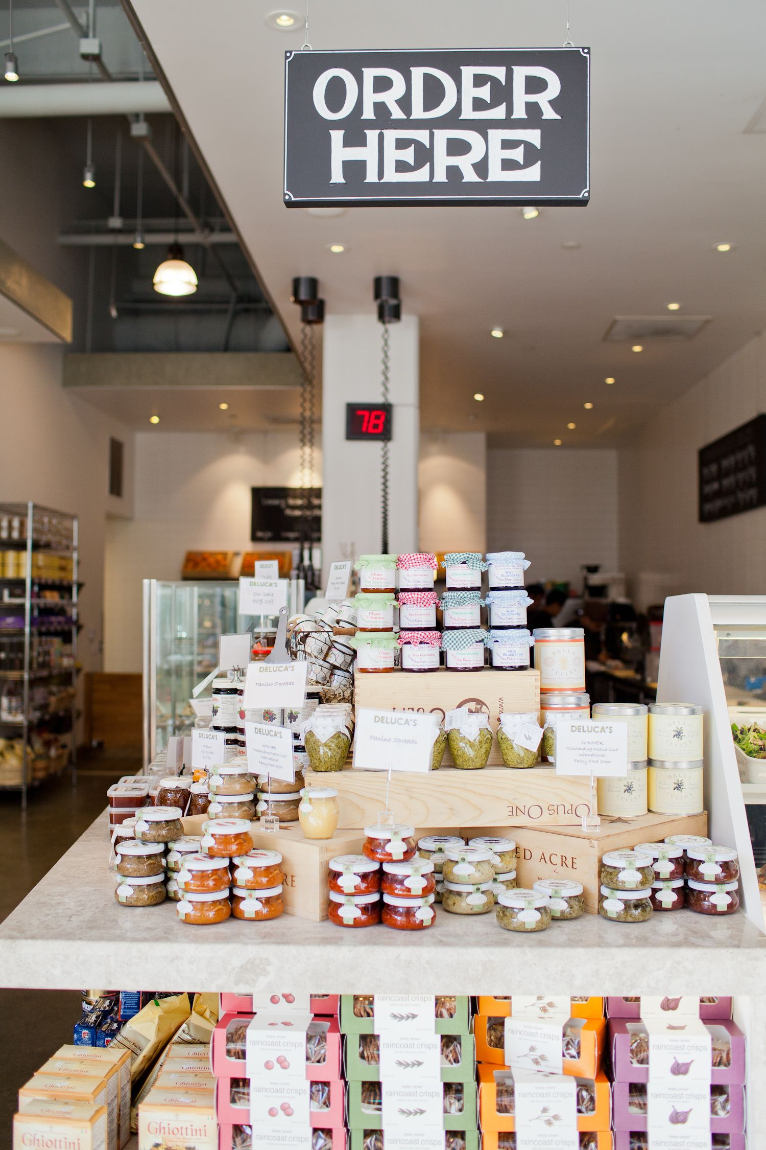 Order here at Deluca's Italian Deli at The Americana at