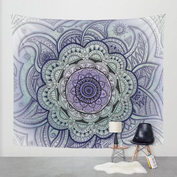 Wall Tapestry Mandala Mandala Drawing Purple Mandala Original
