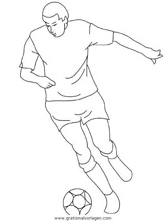 fußballer 5 gratis malvorlage in sport verschiedene