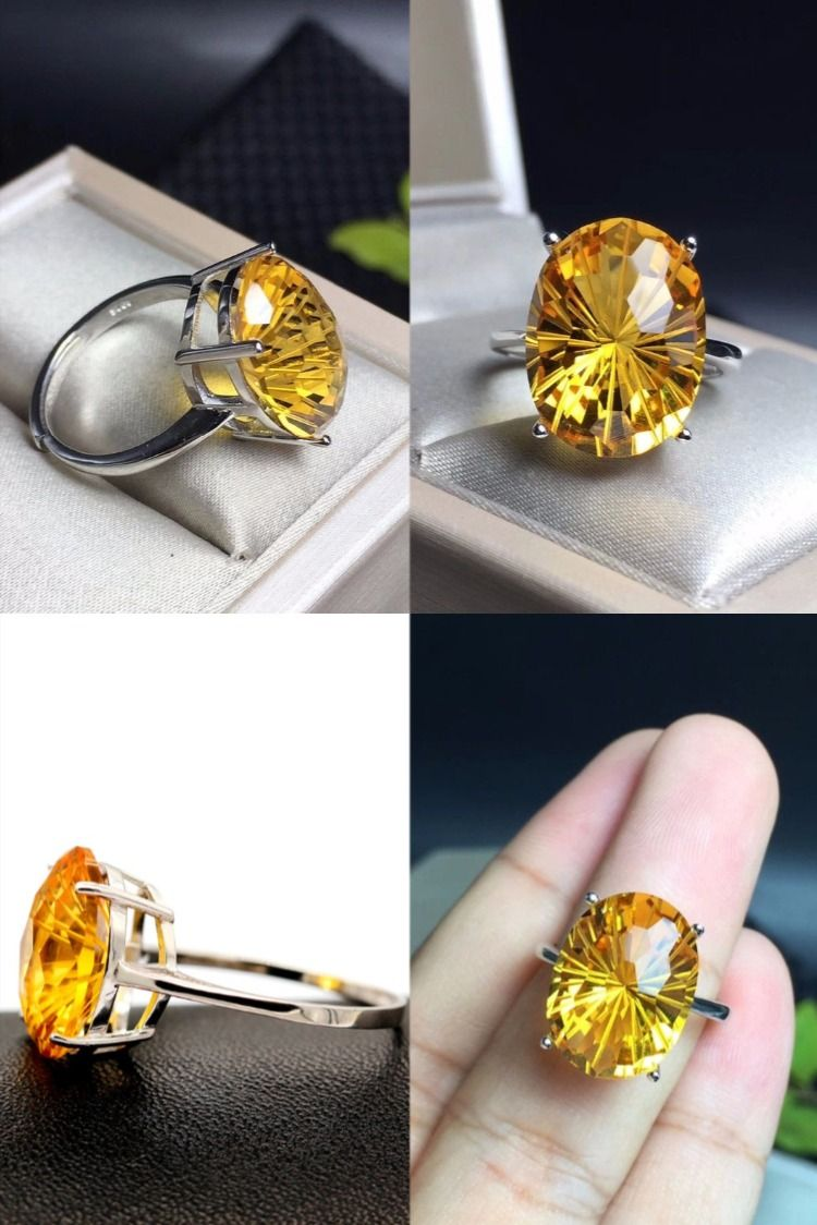 Gemstone Ring Size US 7 925 Sterling Silver Citrine Ring Citrine Jewelry Citrine Silver Ring November Birthstone Silver Jewelry