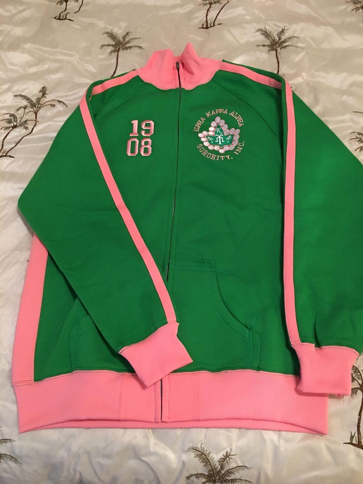 Alpha Kappa Alpha Track Jacket   AKA sweater  Pink and Green ON SALE for   60.00 484ad1e7e