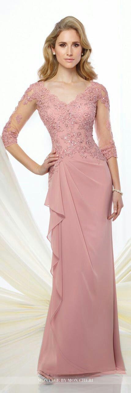 Pin de Sarah OUNNAR en La robe | Pinterest | Vestidos color rosa ...