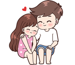 Boobib Cute Couples For Boy Line Stickers Line Store