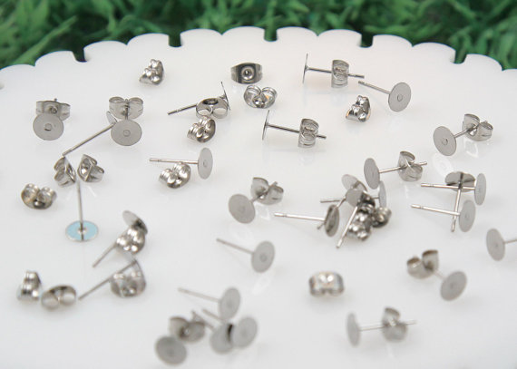 Safe For Sensitive Ears These Stainless Steel Blank Earring Posts Are Perfect Creating Your Own Cute Stud Earrings The Backs Included