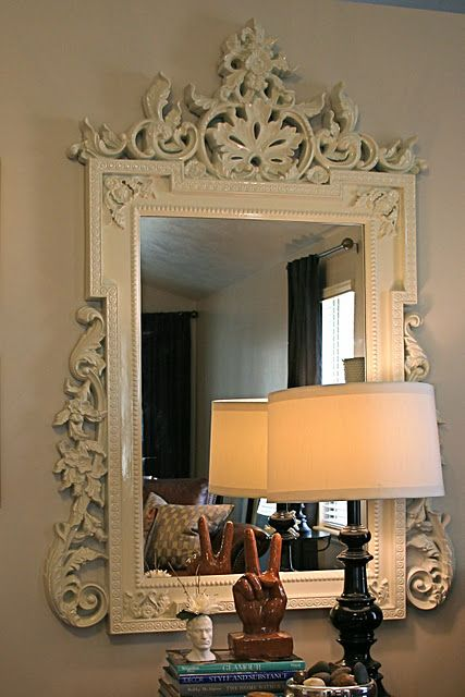 i love these type of mirrors...here is a way to DIY