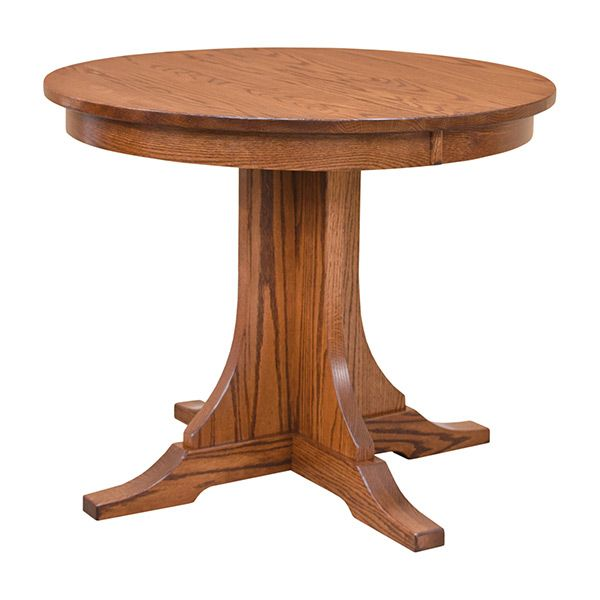 Mission Round Dining Table With 2 Leaves Round Dining Table Handcrafted Dining Table Dining Table