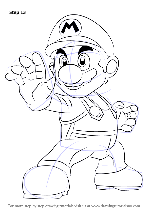 Learn How To Draw Mario From Super Smash Bros Super Smash Bros