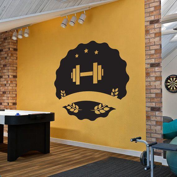 Bodybuilding Wall Decal Vinyl Sticker Art Decor Design Sport Gym - Custom vinyl wall decals for garage