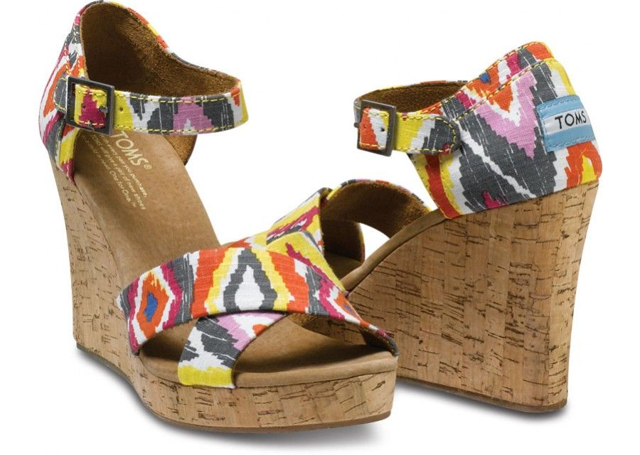 Cenna Women's Strappy Wedges by TOMS