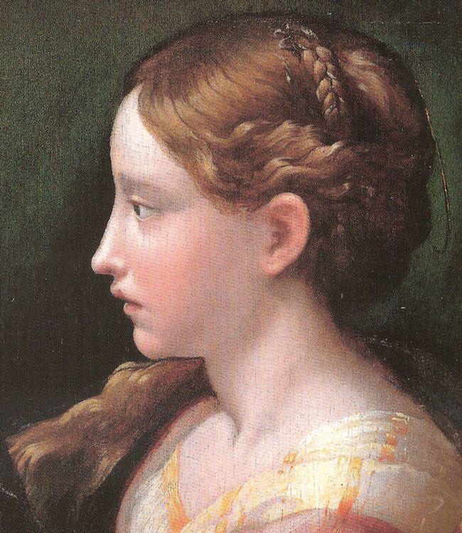 Parmigianino (1503-1540) - Santa Barbara, dettaglio - 1523 circa - Madrid,  Museo del Prado | Prado, Santa barbara, Museo